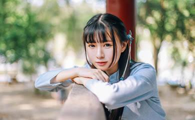 张叶绪思作品《却是离别时》重庆长发美女