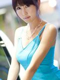 可爱韩国车模崔星儿车展写真图片