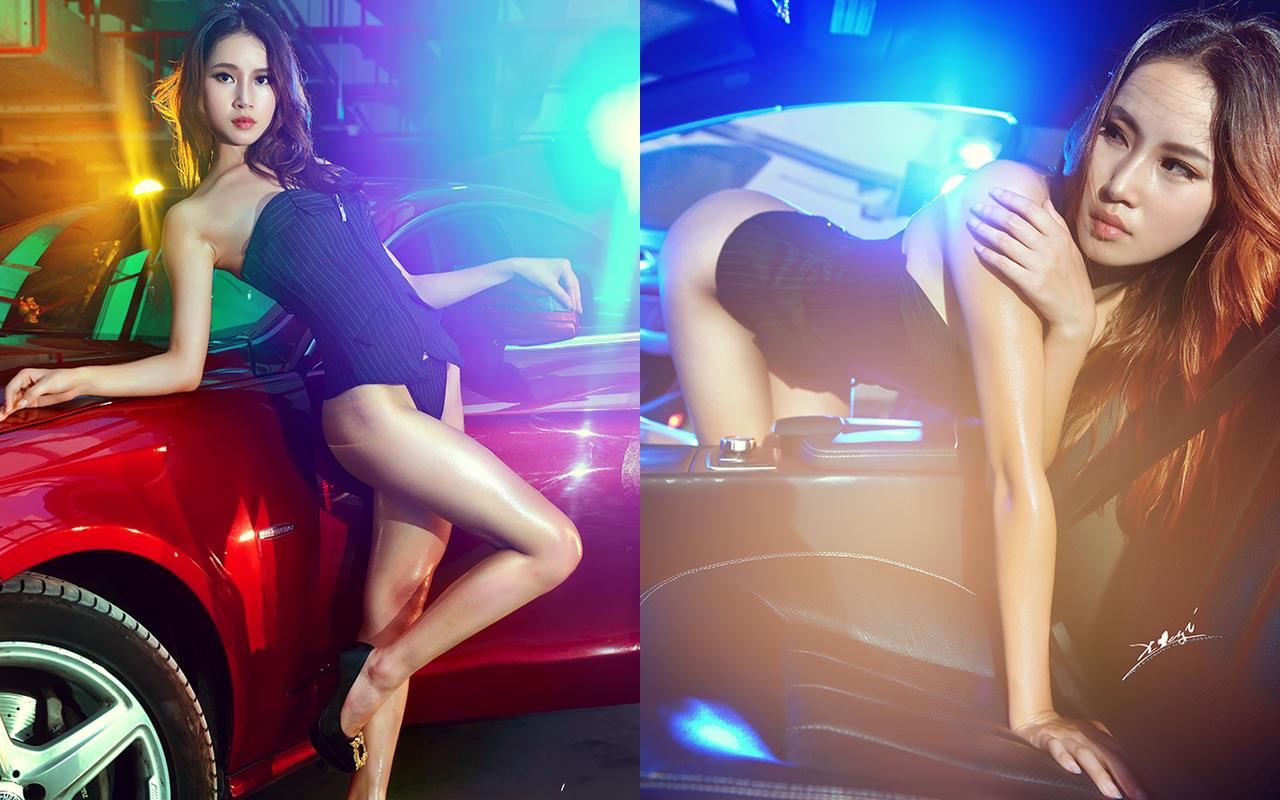 老年妇女人体艺术摄影 长腿翘臀极品美女短裙修