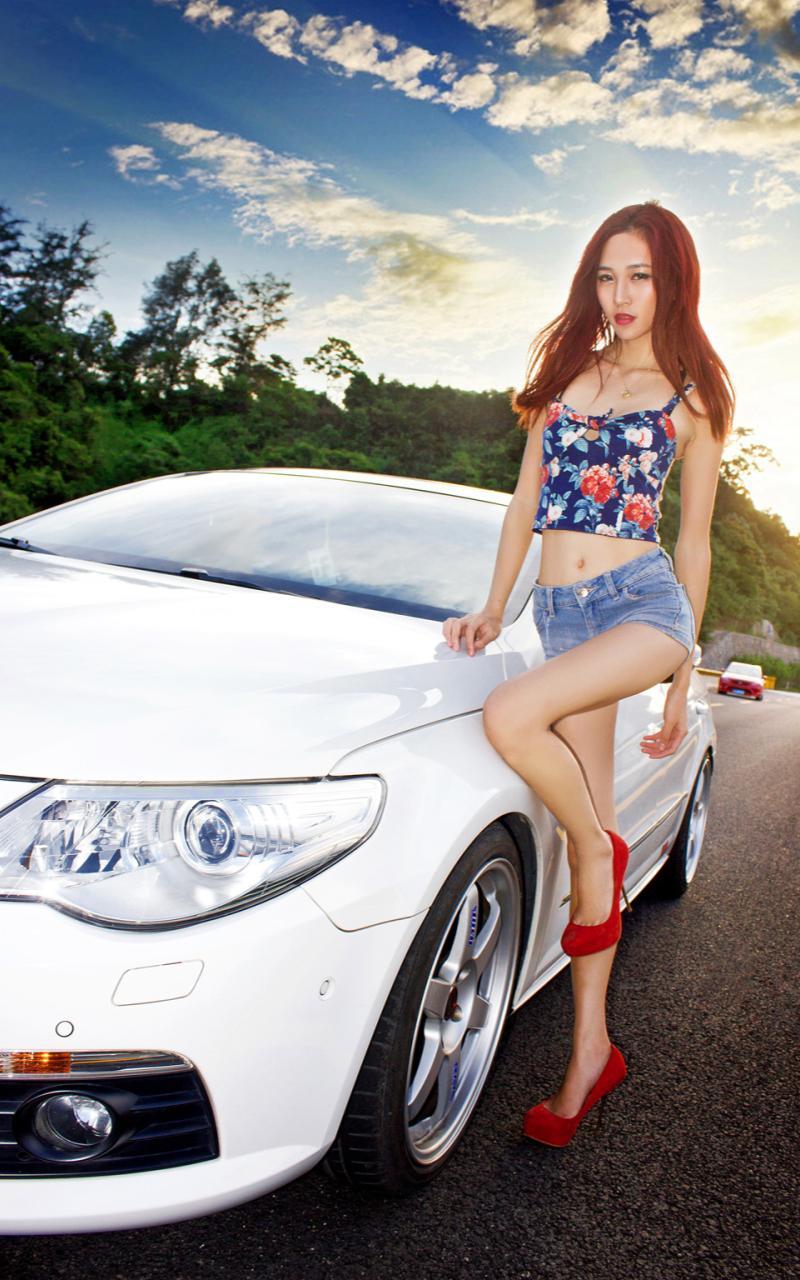 最新西西人体艺术 台湾腿模sarah超短旗袍肉丝长