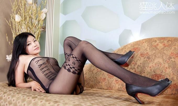 国外超大胆人体 非主流个性独特的黑色吊带丝袜