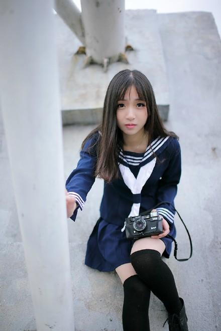水手服学生美女写真图片 温婉动人的水手服