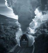 云飞海扬作品《正在消失的蒸汽火车(2)》